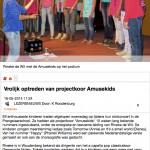 Vrolijk optreden van projectkoor Amusekids - BarneveldseKrant.nl